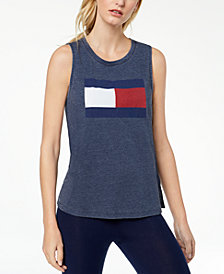 Tommy Hilfiger Sleeveless Logo-Print T-Shirt, Created for Macy's