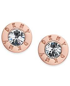 DKNY Logo Crystal Ring Stud Earrings, Created for Macy's