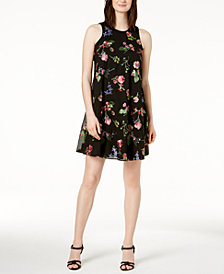 Calvin Klein Petite Floral Embroidered Shift Dress