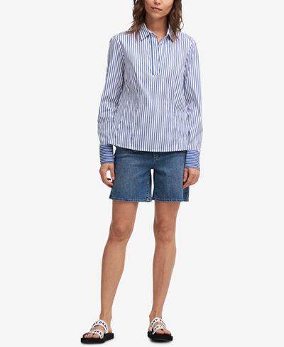 DKNY Striped Popover Shirt