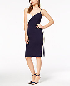 Vince Camuto Colorblocked Slip Dress