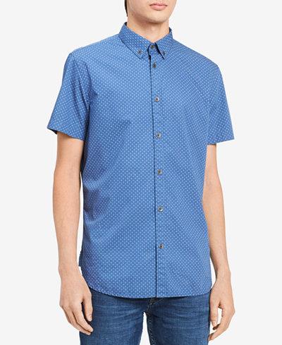 Calvin Klein Jeans Men's Micro Dot-Print Shirt