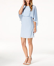 Vince Camuto Chiffon Capelet Dress
