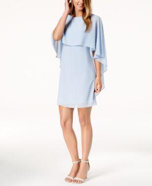 CHIFFON CAPELET DRESS