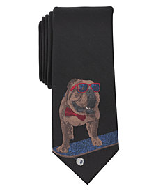 Bar III Men's Cruising Bulldog Tie, Created for Macy's