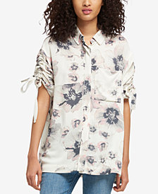DKNY Ruched-Sleeve Shirt, Created for Macy's