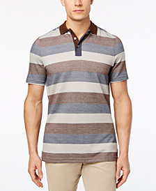 Tasso Elba Men's Striped Supima® Blend Polo, Created for Macy's