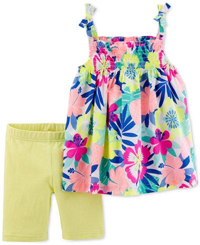 Carter's 2-Pc. Floral-Print Tank Top & Tumbling Shorts Set, Little & Big Girls