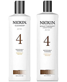Nioxin System 4 Cleanser & Scalp Therapy (Two Items), 16.9-oz., from PUREBEAUTY Salon & Spa
