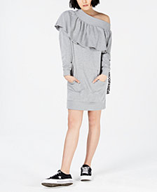 NICOPANDA Off-The-Shoulder Sweatshirt Dress, Created for Macy's