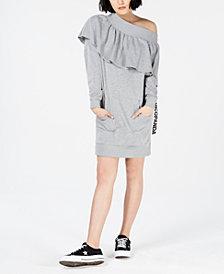 NICOPANDA Off-The-Shoulder Sweatshirt Dress, Created for Macy's
