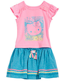 Hello Kitty Baby Girls 2-Pc. Graphic-Print Top & Skirt Set