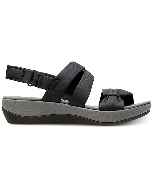 9c627e53552 ... Clarks Collection Women s Cloudsteppers Arla Mae Wedge Sandals ...