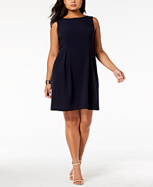 Jessica Howard Plus Size Bow-Back Fit & Flare Dress