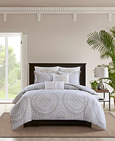 Echo Marco Cotton 3-Pc. King Comforter Set
