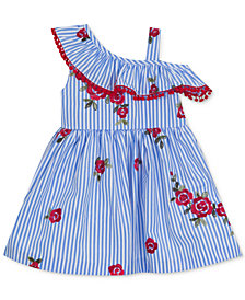 Rare Editions Embroidered Ruffle Sundress, Baby Girls