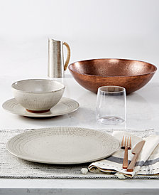 Lucky Brand Rustic Weave Dinnerware Collection