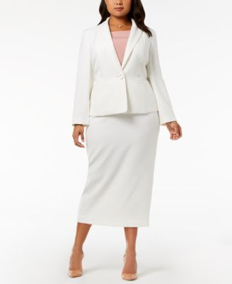 Plus Size Column Skirt