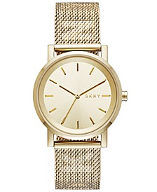 Women's SoHo Gold-Tone Stainless-Steel Mesh Bracelet Watch 34mm, Created for Macy's