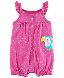 Carter's Baby Girls Toucan Cotton Romper