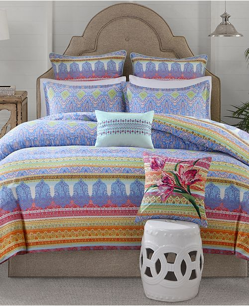 Echo Sofia Cotton 3-Pc. Full/Queen Duvet Cover Set