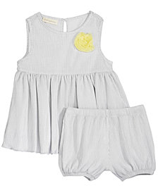 First Impressions Baby Girls 2-Pc. Metallic Tunic & Bloomer Shorts Set, Created for Macy's