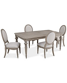 Elina Expandable Dining 5-Pc. Set (Dining Table & 4 Upholstered Side Chairs), Created for Macy's