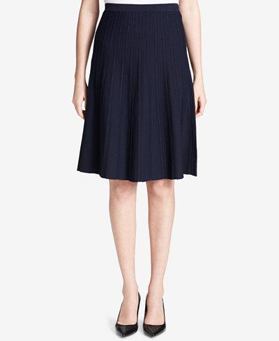 Calvin Klein Textured A-Line Skirt