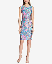 Tommy Hilfiger Paisley-Print Sheath Dress
