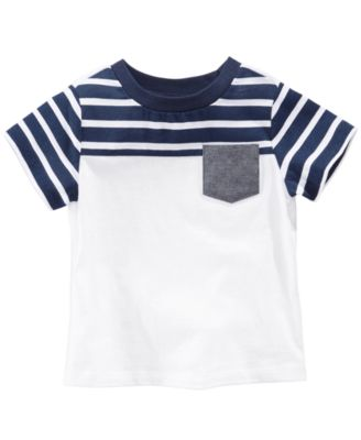 Striped Pocket Cotton T-Shirt, Baby Boys, Created for Macy's