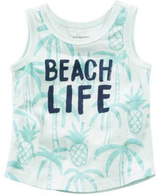 Beach Life-Print Cotton Tank Top, Baby Boys, Created for Macy's