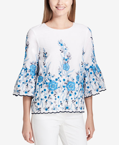 Calvin Klein Cotton Embroidered Top