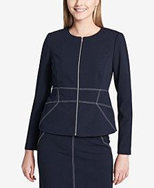 Calvin Klein Stitched-Trim Blazer