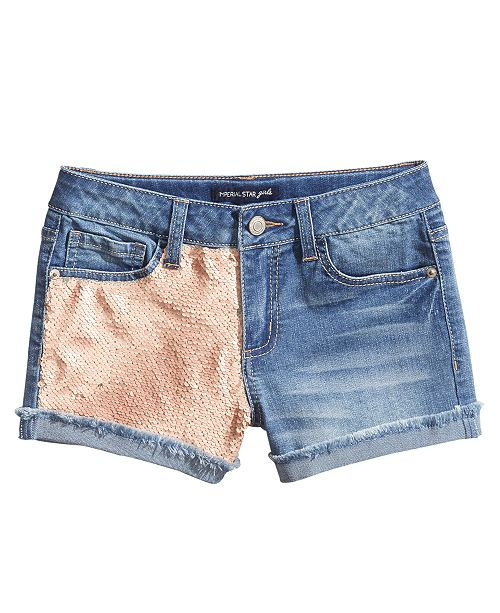 9ec2b268c2 Imperial Star Reversible Sequin Shorts, Big Girls & Reviews - Shorts ...