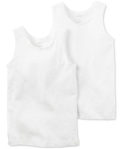 Carter's 2-Pk. Cotton Undershirts, Little Girls & Big Girls
