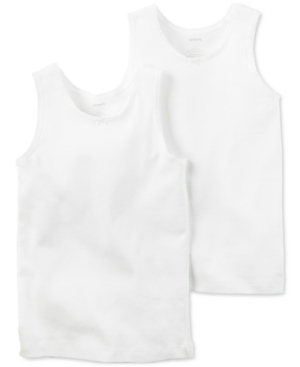 Carters 2Pk Cotton Undershirts Little Girls  Big Girls