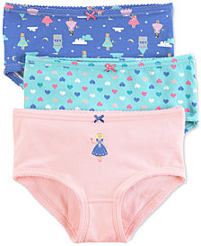 Carter's 3-Pk. Princess Panties, Little Girls & Big Girls