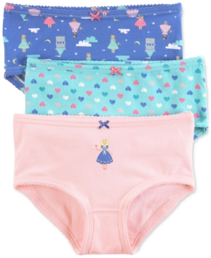 Carters 3Pk Princess Panties Little Girls  Big Girls