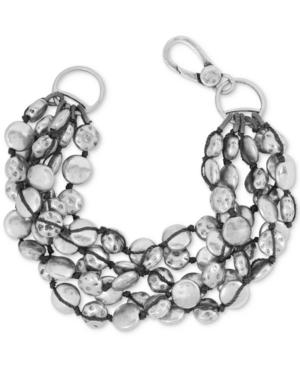 Lucky Brand Bracelet, Silver-Tone Coin Bracelet