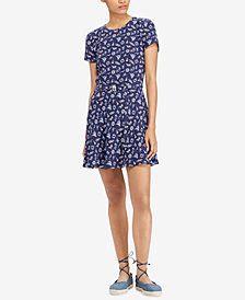 Polo Ralph Lauren Printed Open-Back Fit & Flare Dress