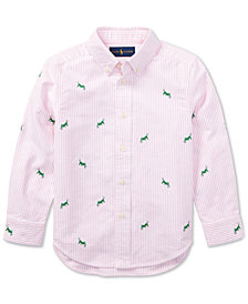 Polo Ralph Lauren Embroidered Cotton Shirt, Little Boys