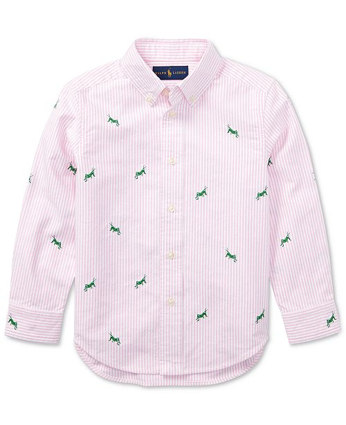 f86ad4f63ceb74 ... Polo Ralph Lauren Embroidered Cotton Shirt
