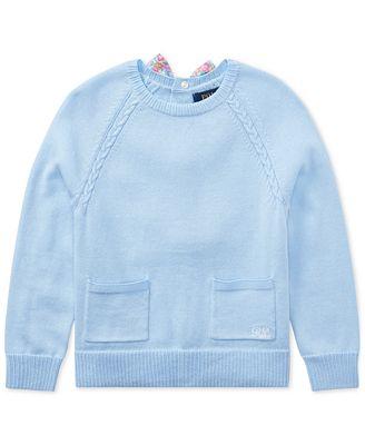 Polo Ralph Lauren Cotton Sweater Toddler Girls Sweaters Kids