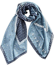 COACH Marguerite Patchwork Oversized Square Scarf