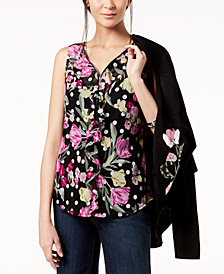 I.N.C. Ruffled V-Neck Top, Created for Macy's