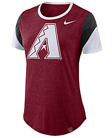 Nike Women's Arizona Diamondbacks Tri-Blend Crew T-Shirt