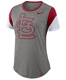 Nike Women's St. Louis Cardinals Tri-Blend Crew T-Shirt