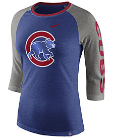 Nike Women's Chicago Cubs Tri-Blend Raglan T-Shirt