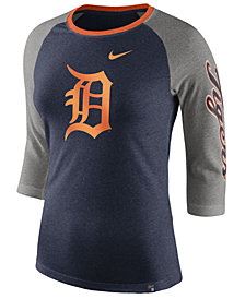 Nike Women's Detroit Tigers Tri-Blend Raglan T-Shirt