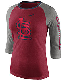 Nike Women's St. Louis Cardinals Tri-Blend Raglan T-Shirt